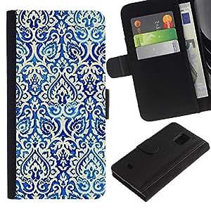 UberTech / Samsung Galaxy S5 Mini, SM-G800, NOT S5 REGULAR! / Cards Poker Pattern Wallpaper White / Cuero PU Delgado caso Billetera cubierta Shell Armor Funda Case Cover Wallet Credit Card
