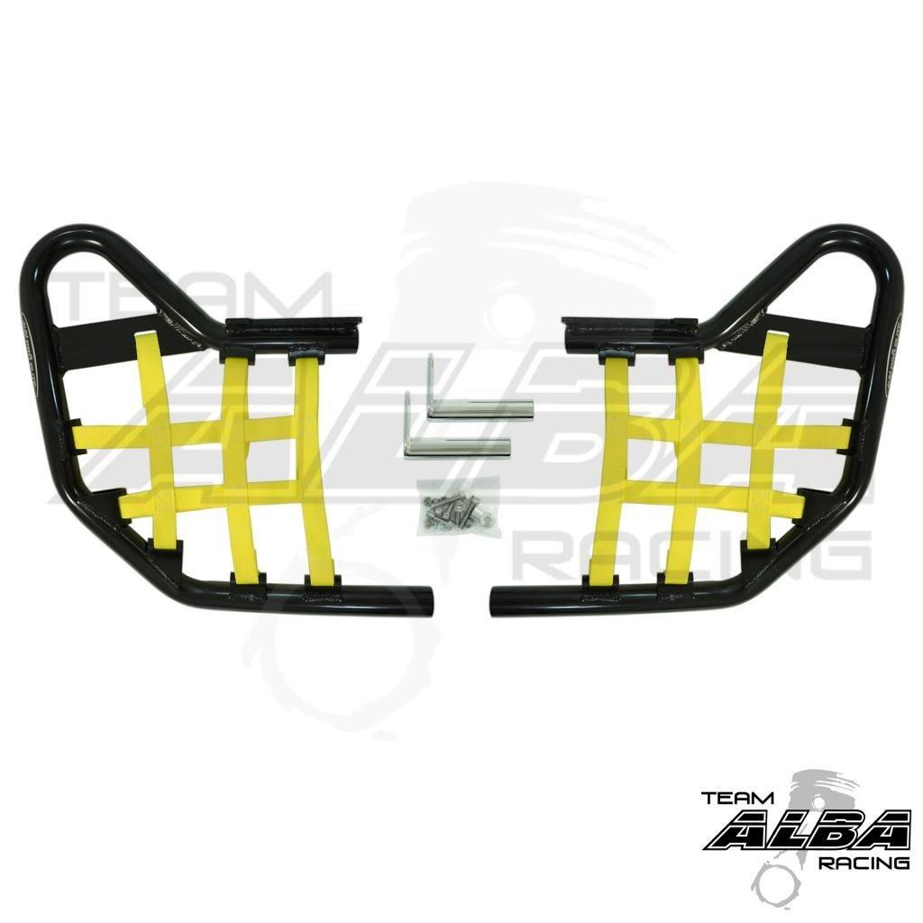 Yamaha Warrior YFM 350X (1990-2004) Standard Nerf Bars Black w/ Yellow Net