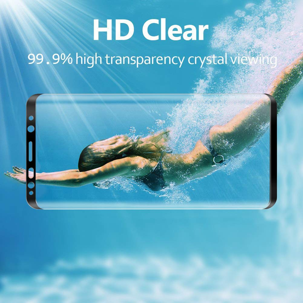 Pellicola Protettiva in Vetro Temperato Screen Protector Ventdest Vetro Temperato Samsung S9 Pellicola Vetro Compatibile con Custodia 2 Pack Pellicola Vetro per Samsung Galaxy S9