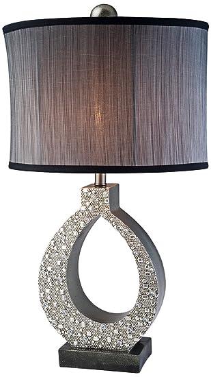 Amazon.com: OK Lighting Table Lamp, Silver Twilight: Home & Kitchen