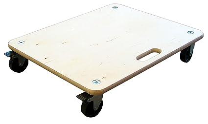 HSI - Tabla de transporte con freno y ruedas duras, diámetro=100 mm,