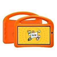 Tablet DL Futura Kids,Tela de 7, 8GB, Wi-Fi, Android 7.1, Quad Core 1.2Ghz + Capa com Alça Laranja