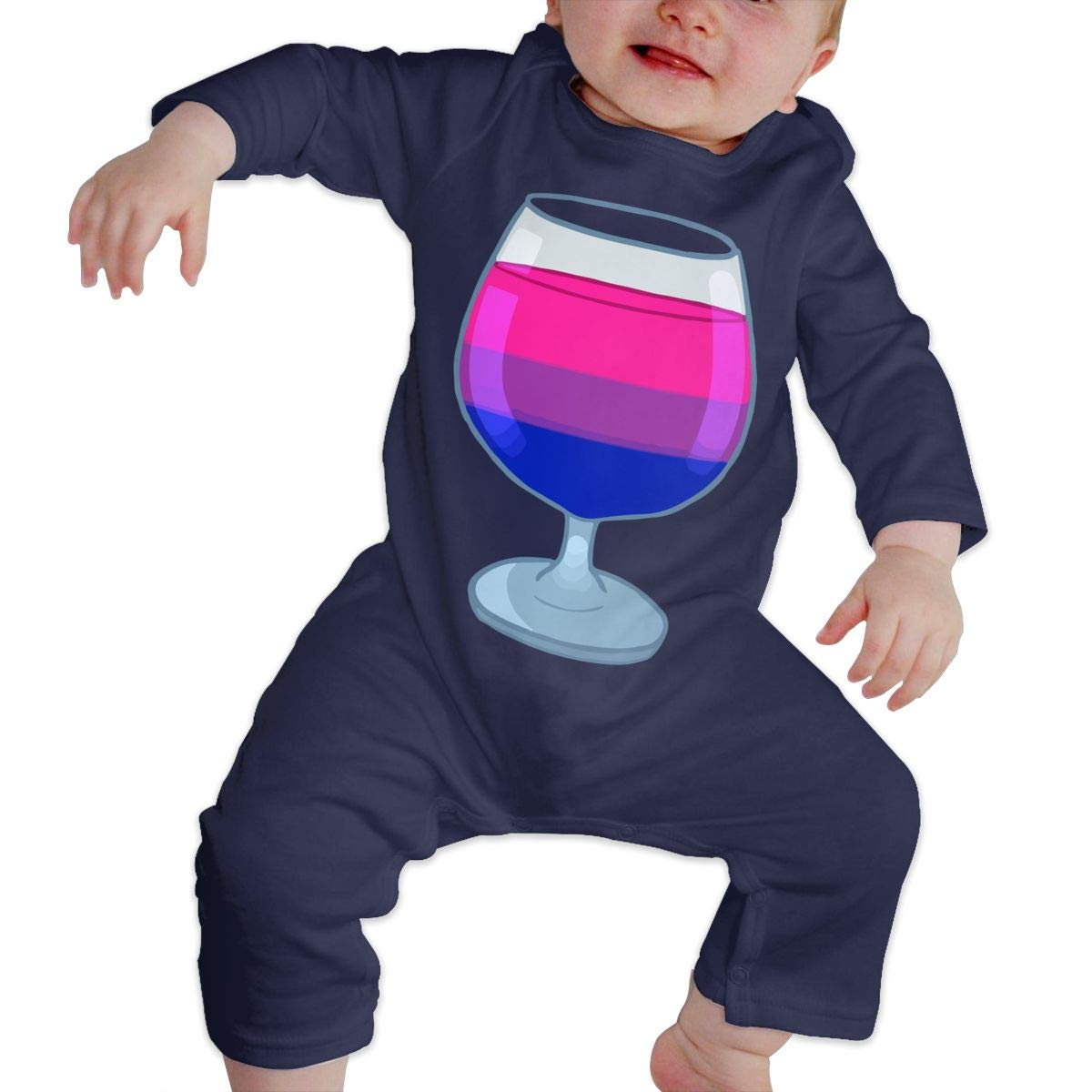 LBJQ8 Bisexual Cocktail Unisex Baby Organic Cotton Bodysuit Sleepwear