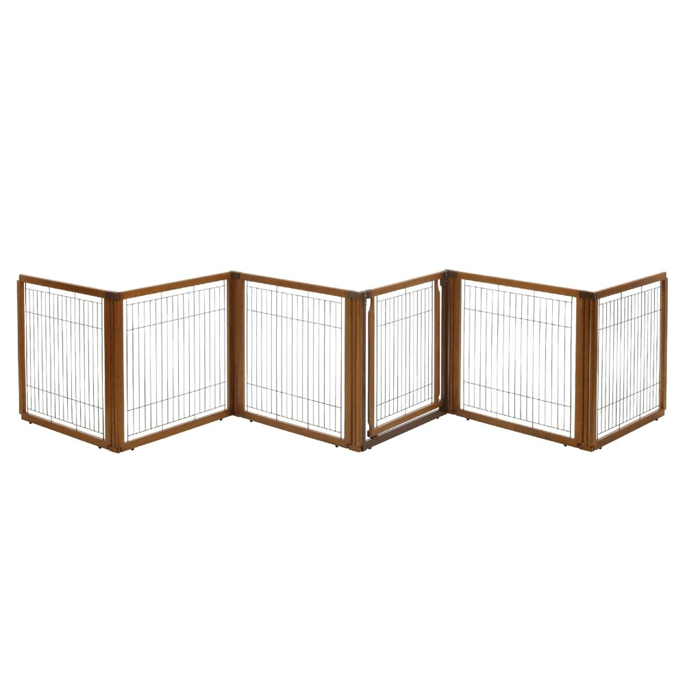 Richell 3-in-1 Convertible Elite Pet Gate, 6-Panel by Richell
