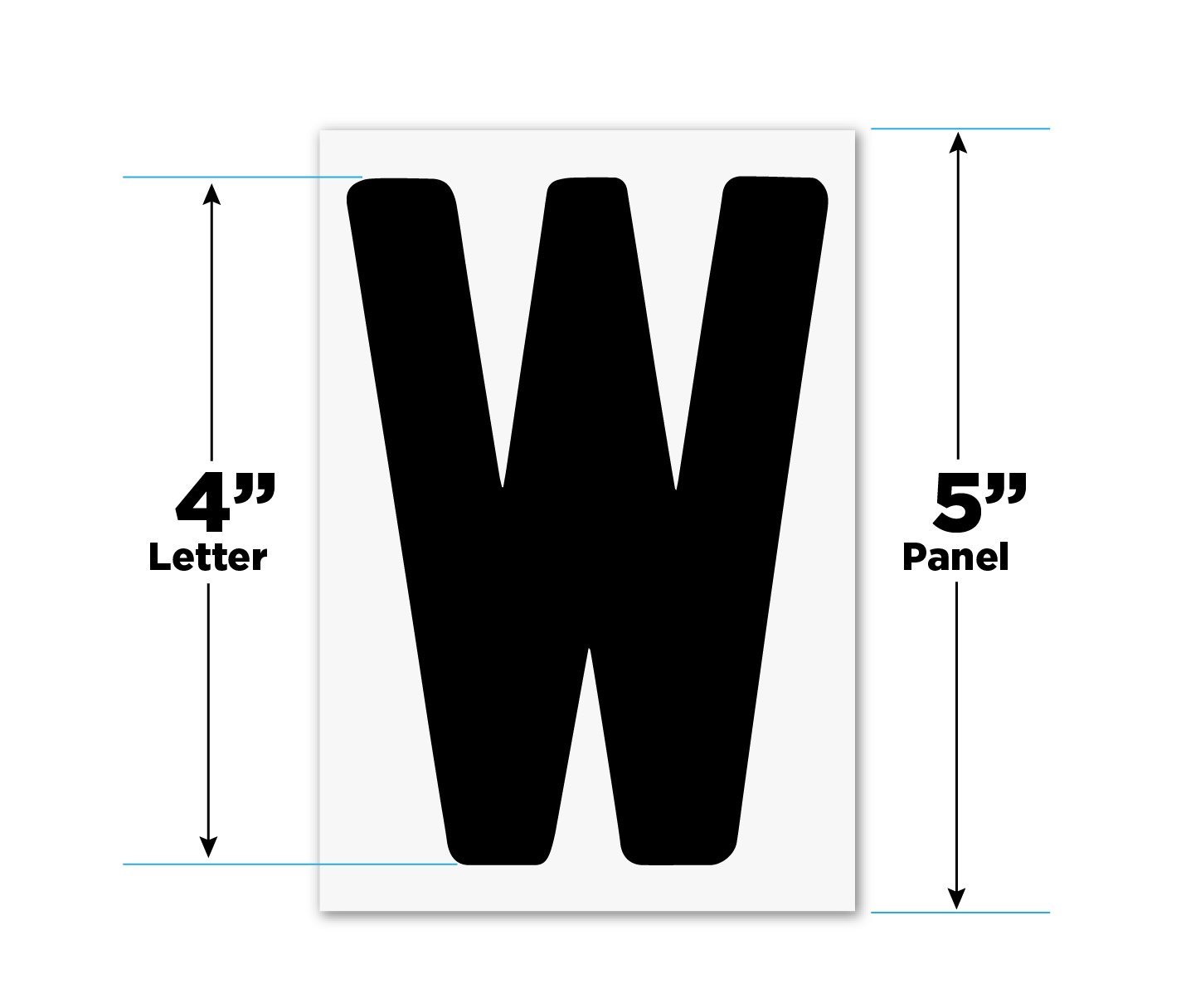 Changeable Outdoor Sign Letters 4'' Portable Flex Letters 273 Count Helvetica Font 5'' Panel by Nozama Bros