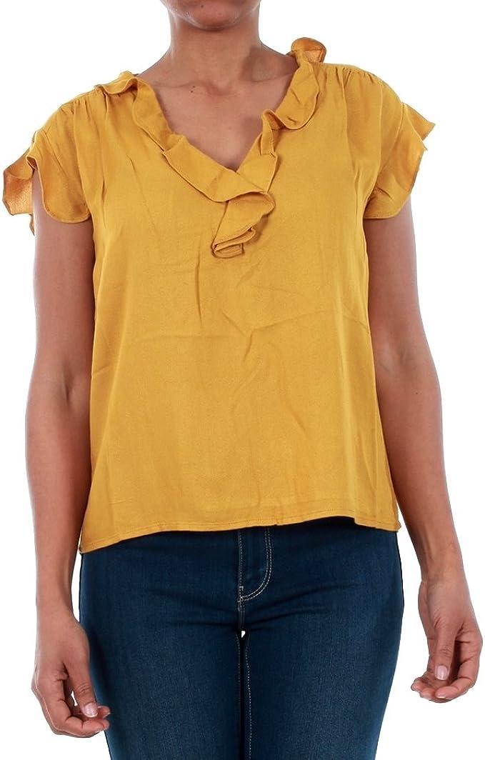Vero Moda Camiseta Mujer XS Amarillo 10196234 VMSEATTLE Frill S/S ...
