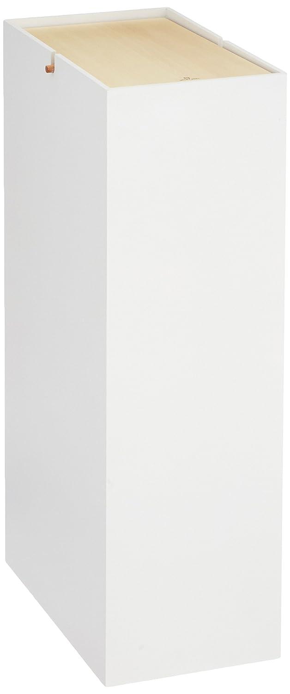 ヤマト工芸 スリムダストボックス 「NOPPO」 ホワイト YK08-106 20L B018X7OU4S ホワイト ホワイト