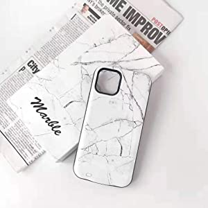 Kiker Mobile, Fashion Smart Battery Case for iPhone X/Xs, XR, Xs Max | Ultra-Slim Full Protection | Marble Back (Marble - White, iPhone 11)