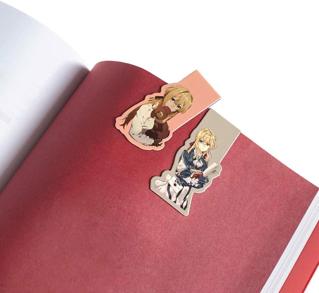 6 units CoolChange Magnetic manga bookmarkers with Violet Evergarden theme