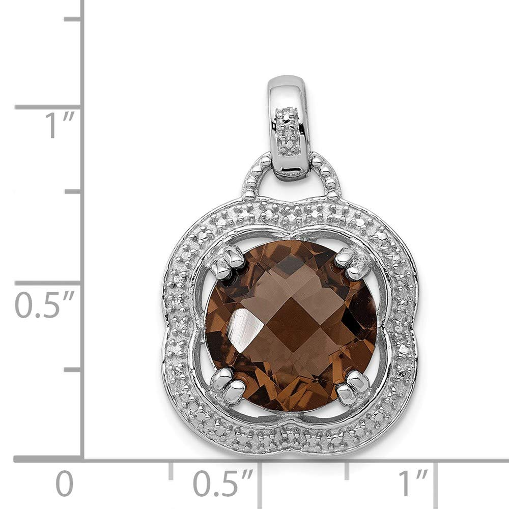 19mm x 19mm Solid 925 Sterling Silver Chai Pendant