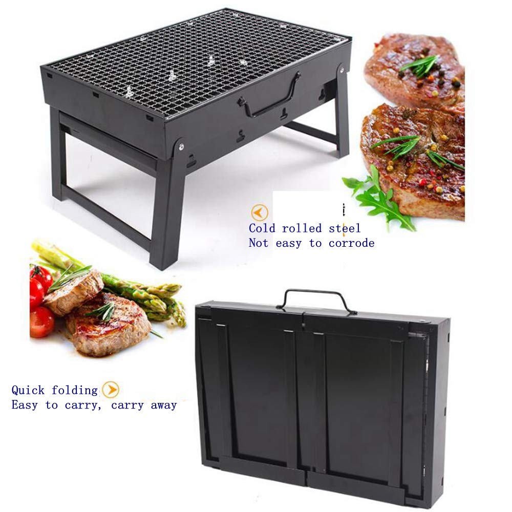 Amazon.com: JJFJ Portable Grill, Charcoal Grill, Collapsible ...