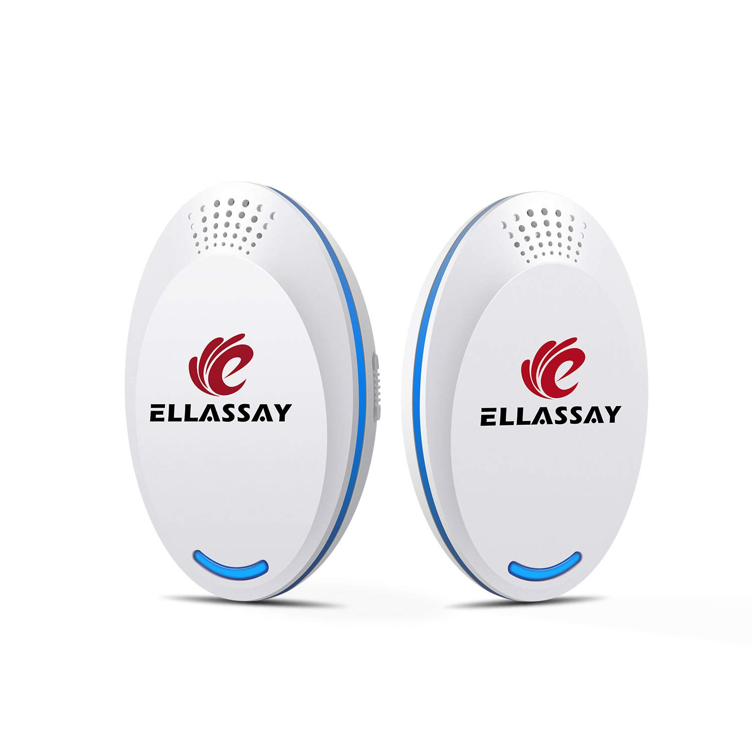 ELLASSAY Electronic Ultrasonic Pest Repeller Plug in,2 Pack Indoor Ultrasound Repeller Against Rats, Mouse, Spider, Ants, Bed Bugs, Fleas, Cockroaches, Flies, Moths, Mosquito Easy to Use by ELLASSAY