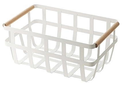 YAMAZAKI home Tosca Storage Basket Dual handle  sc 1 st  Amazon.com & Amazon.com: YAMAZAKI home Tosca Storage Basket Dual handle: Home ...