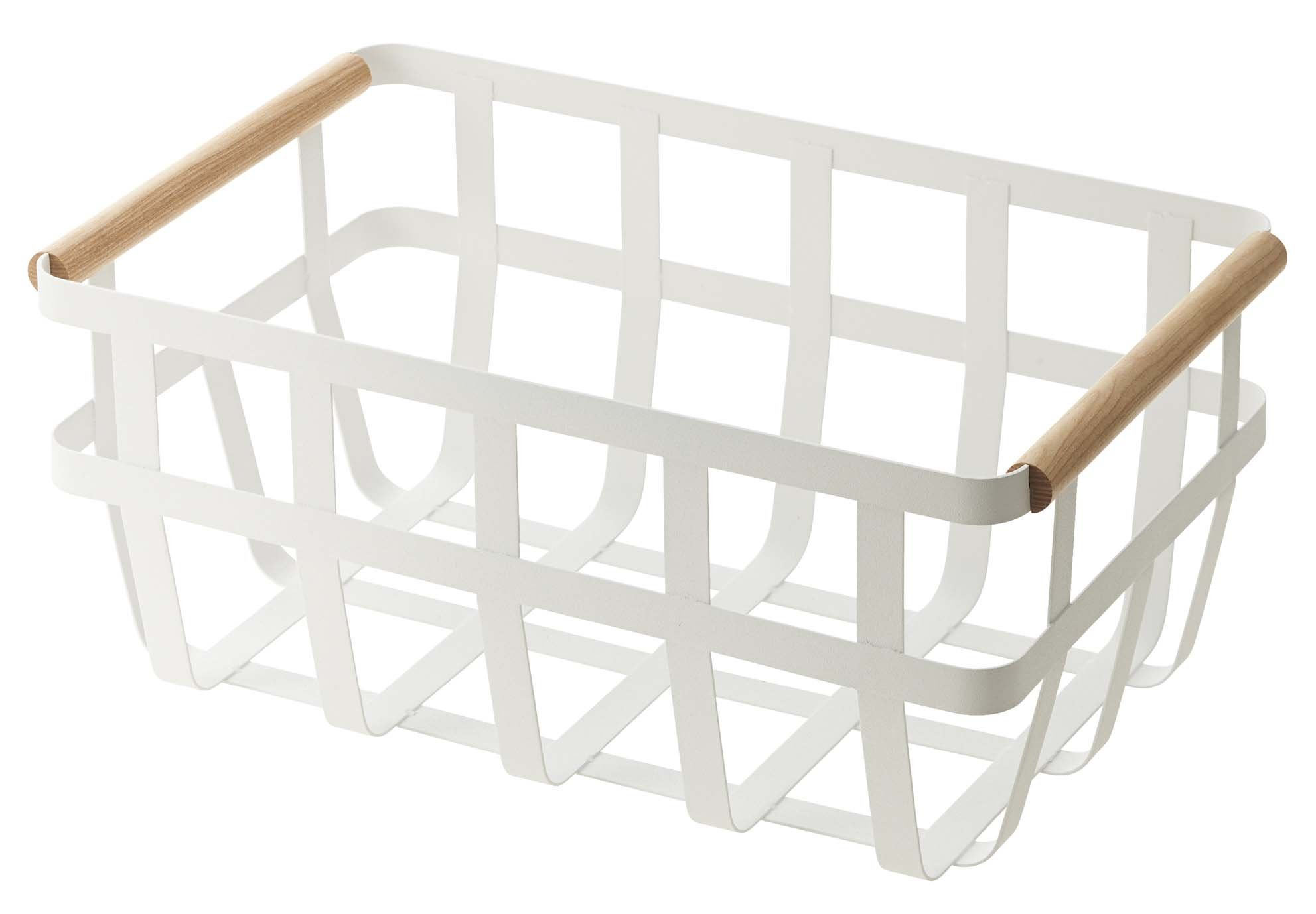 YAMAZAKI home Tosca Storage Basket, Dual Handle - Classy, modern design Can be used for anything Easy to move around and transport - living-room-decor, living-room, baskets-storage - 61rekLeSQTL -
