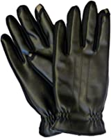 Isotoner Smart Touch Men Black Faux Leather Touchscreen Gloves Smartouch Text