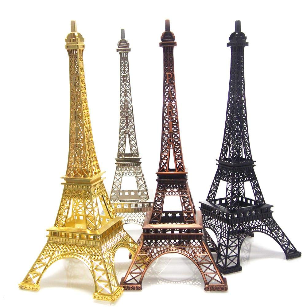 Black Metal Eiffel Tower Statue Figurine Replica Centerpiece SH Unlimited 15 Inch 38cm