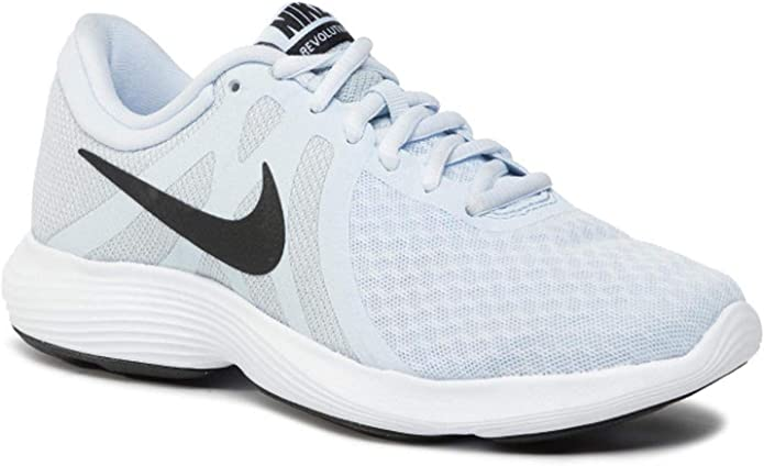 Nike Revolution 4 Sneakers Laufschuhe Damen Hellblau mit schwarzen Streifen