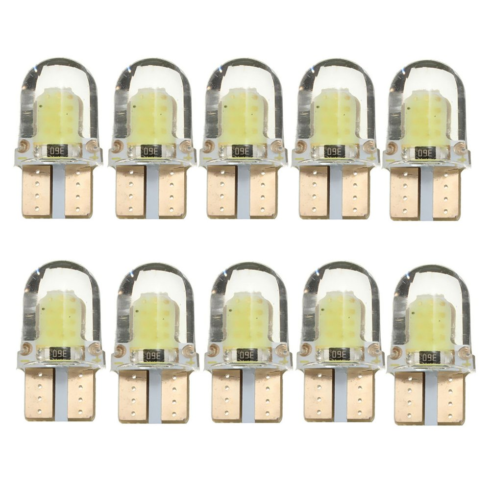 Tinksky Lot de 10 Ampoules LED T10 12V 5W pour voiture (lumiè re blanche) IF153411F7KSF5197