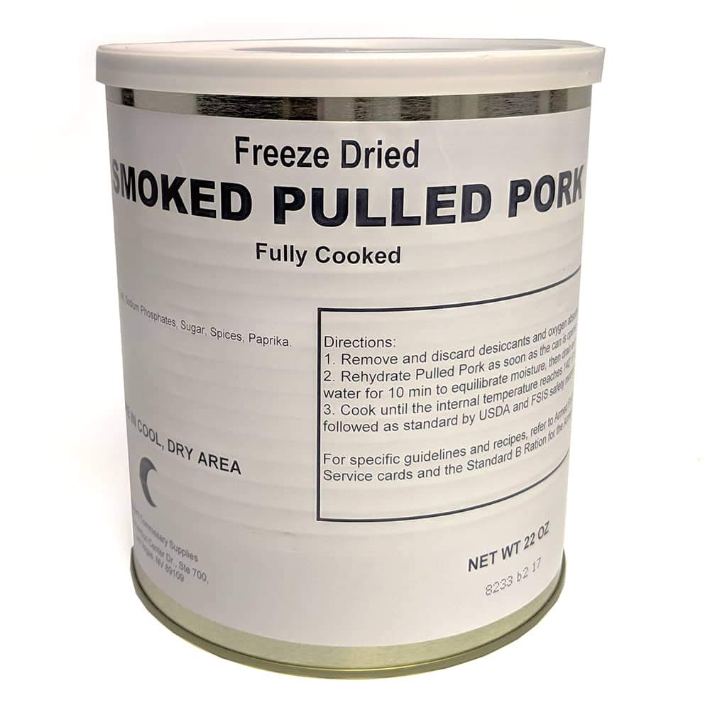 Freeze Dried Smoked Pulled Pork