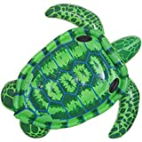 Sea Turtle Floating Row, Inflatable Sea Turtle Pool PVC Float Ride, Children and Adults Water Swimming Boat Seat Ride, Summer Pool Party Fun Toy
