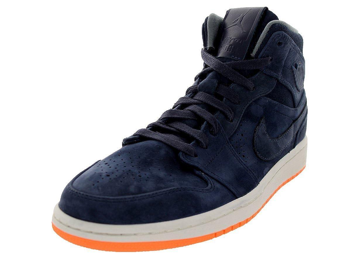 Jordan Nike Men s Air 1 Mid Nouveau Obsdn Obsdn ATMC Orng Cl Gry Basketball  Shoe 10.5 Men US  Amazon.co.uk  Shoes   Bags 29cb05239b