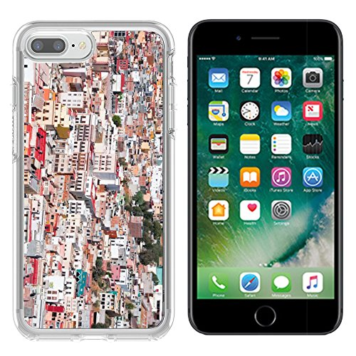 Luxlady Apple iPhone 7/8 Clear case Soft TPU Rubber Silicone Bumper Snap Cases iPhone7/8 IMAGE ID: 20636380 Zacatecas colorful town in Mexico