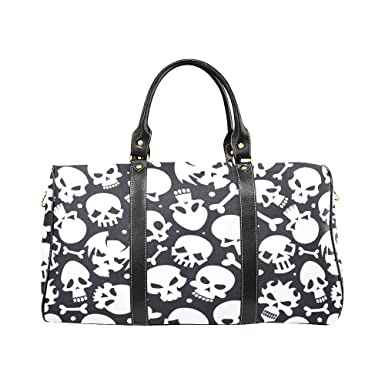Bone Sugar Skull Large Travel Duffel Bag Waterproof Weekend Bag Luggage  with Strap df1c0661387