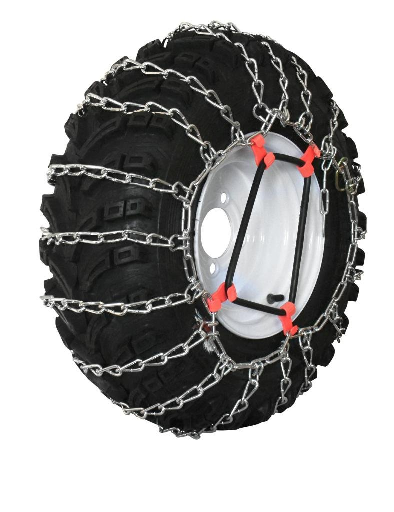 Grizzlar GTU-252 Garden Tractor 2 link Ladder Alloy Tire Chains Tensioner included 16x5.50-8 16x6.50-8