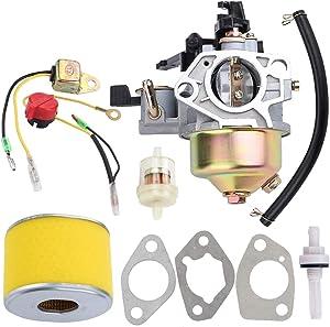 Kizut GX 340 390 Carburetor Carb Air Filter Repower Kit for Honda GX390 GX340 13HP 11HP 188F Generator Lawn Mower Generator WT40 Water Pump Tiller Cultivator 16100-ZF6-V01 16100-ZF6-V00 Carb
