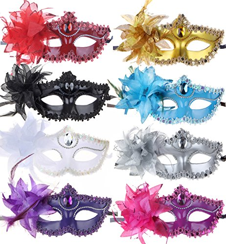 10pcs (Mardi Mask)