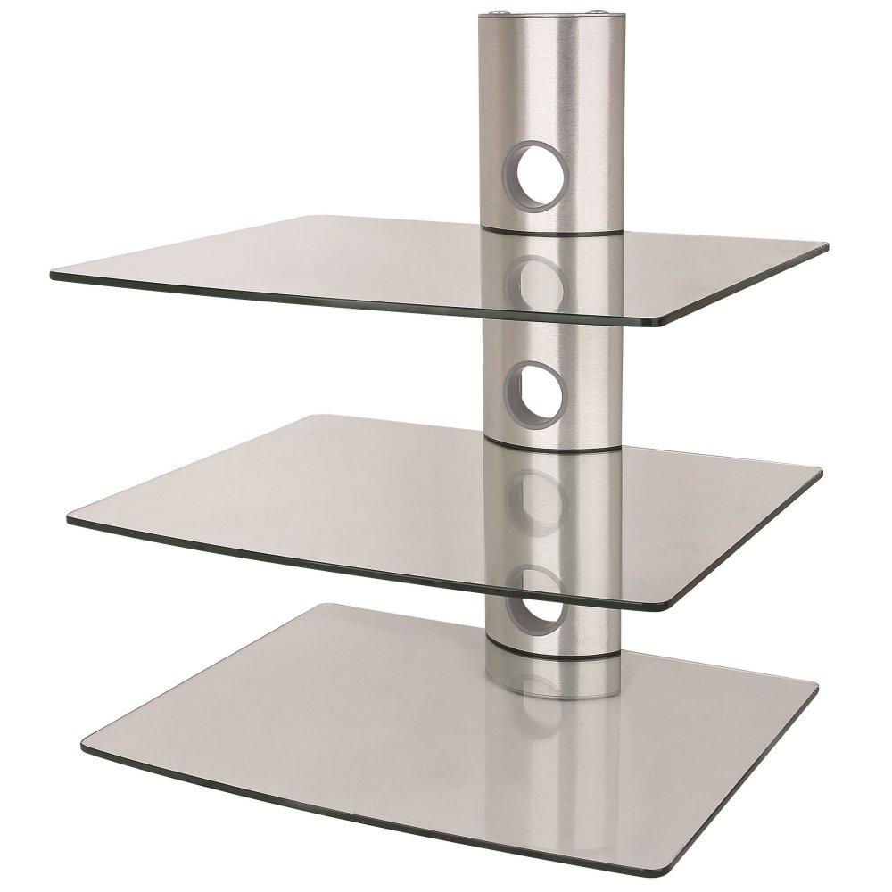 NEG Multimedia TV-Rack SUSPENDER 503S (silber) mit 3 Glas-Ablagen ...