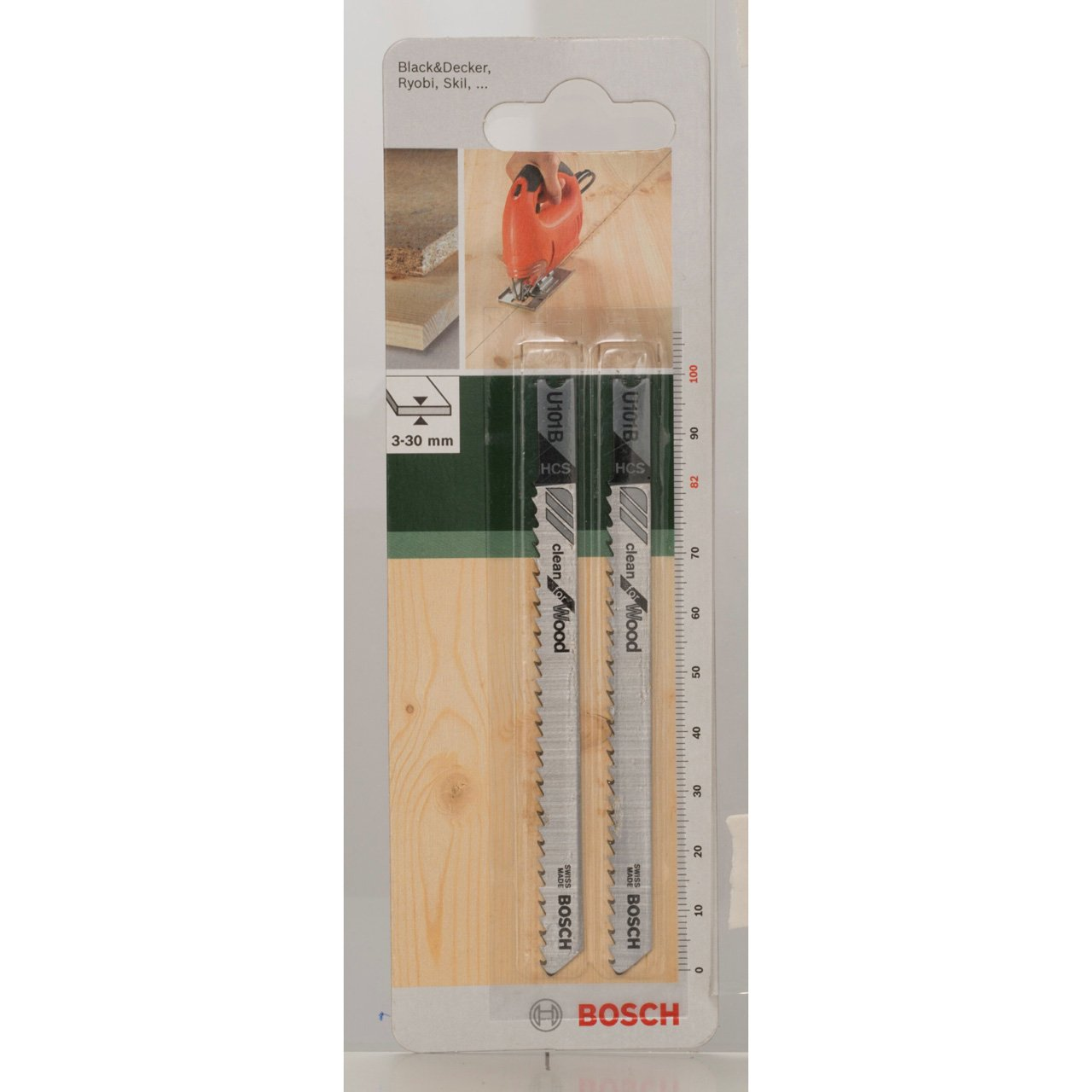 pack de 2 U 101 B Hoja de sierra de calar HCS Bosch 2 609 256 759