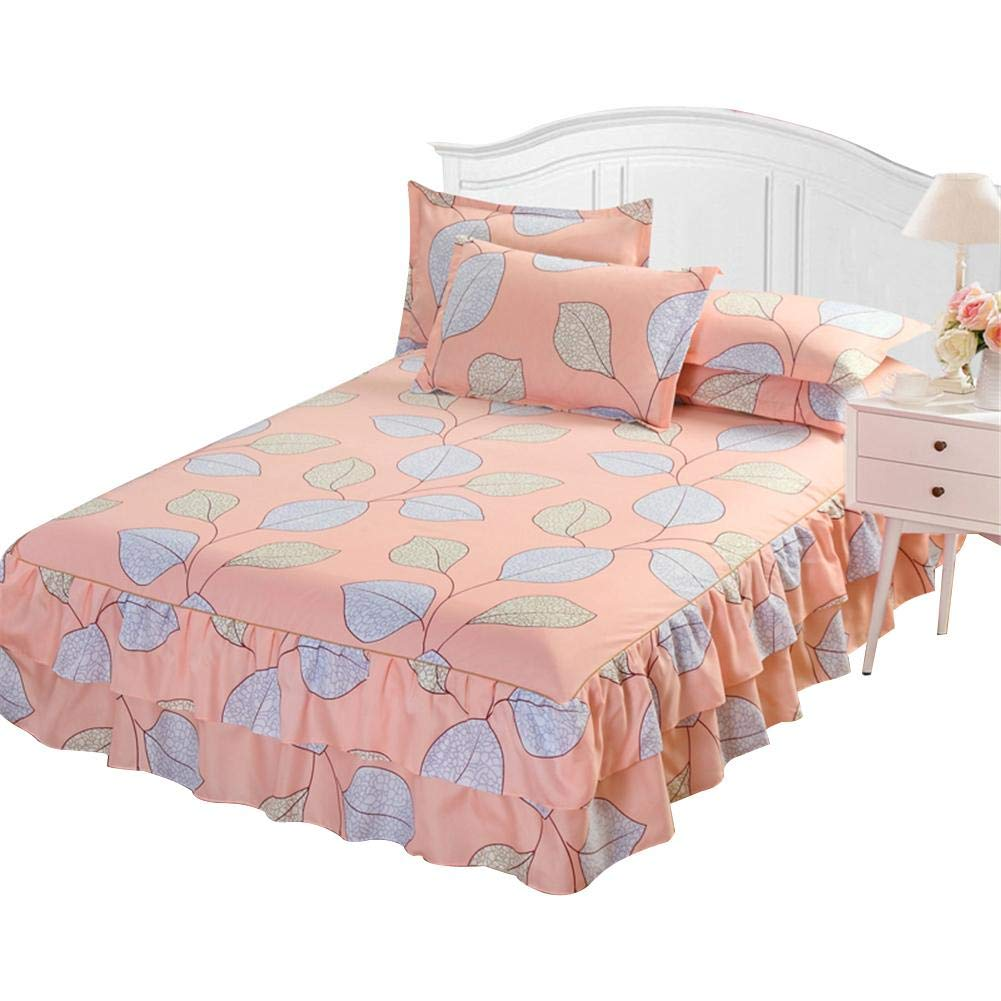 Wall of Dragon Polyester Bedspread Queen Bed Skirt Thickened Fitted Sheet Single Double Bed Dust Ruffle Princess Bedsheet Pillowcase
