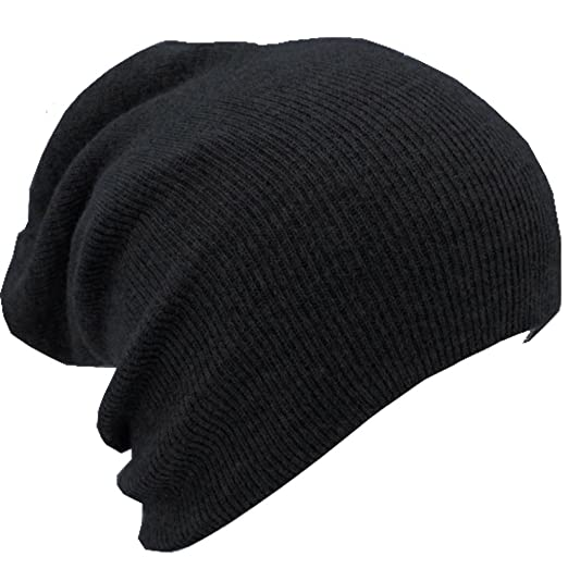 38f7971248359 Image Unavailable. Image not available for. Color  ALL 1N ALL Slouchy Beanie  Hat Ski Snowboard Ribbed Beanie Black One Size