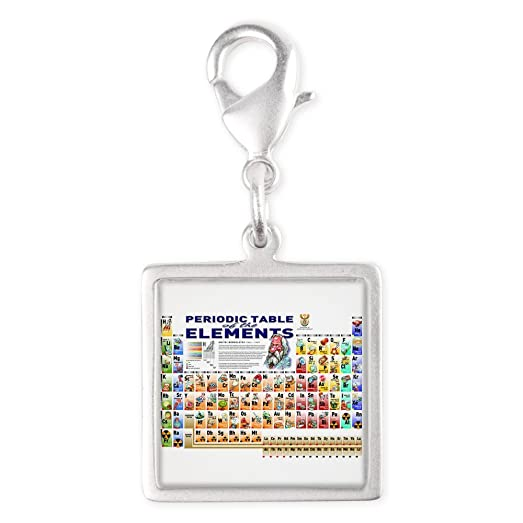 Amazon silver square charm periodic table of elements graphical silver square charm periodic table of elements graphical urtaz Choice Image