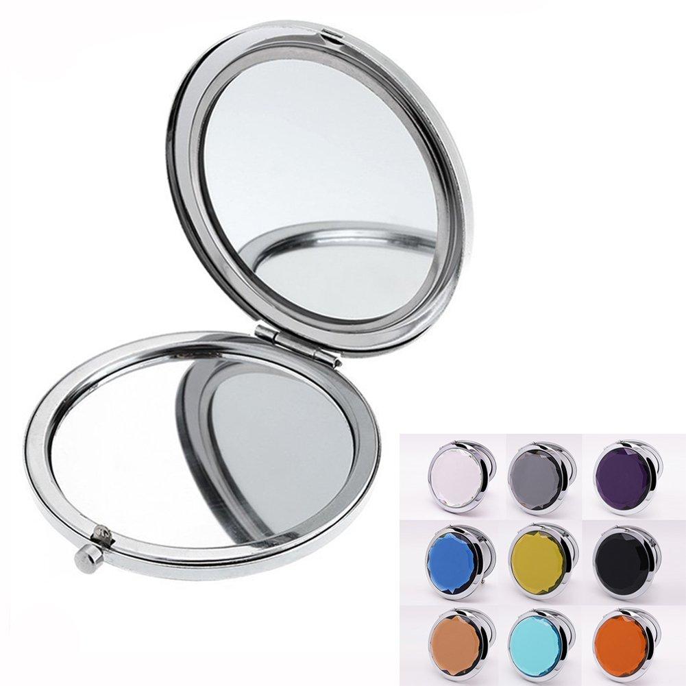 Beauty360 Ladies Pocket Mirror Travel Make Up Crystal 7x6cm (Random Color) Beauty360tech ARTCMP001