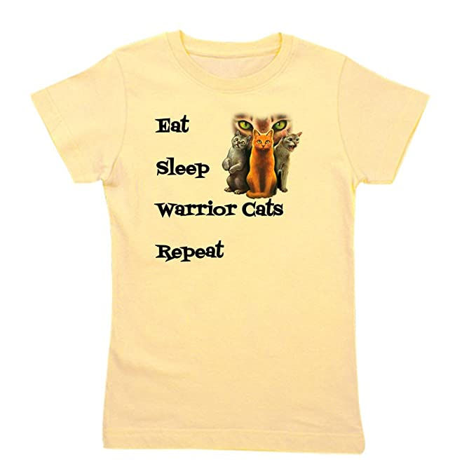 3fcfb7d9e CafePress - Eat Sleep Warrior Cats Repeat - Girl's Cotton T-Shirt, Cute Slim