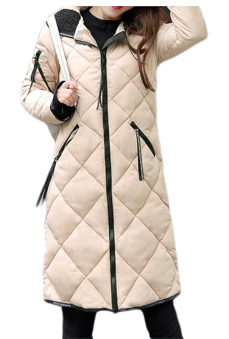 1 sull Women Winter Down Coats Long Hoodies Puffer Down Jacket Overcoat