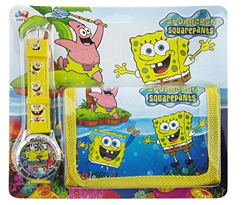 Amazon.com: Bob Esponja portafolios y reloj niños niñas ...