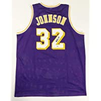 $174 » Autographed Magic Johnson Jersey - Purple Showtime Beckett Auth *2 - Beckett Authentication - Autographed NBA Jerseys