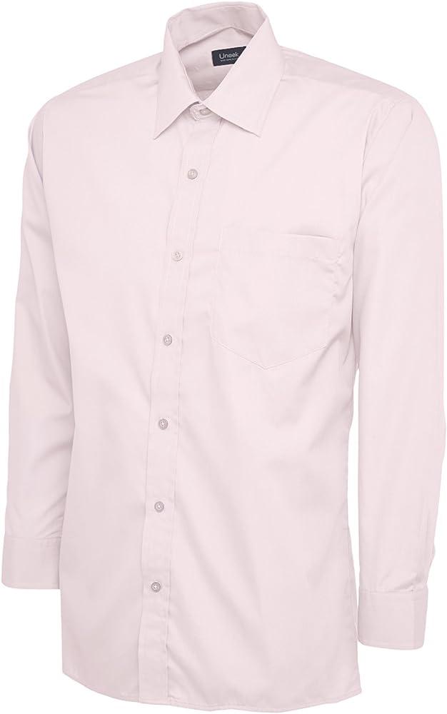 Uneek clothing - Camisa formal - para hombre Rosa rosa small: Amazon.es: Ropa y accesorios