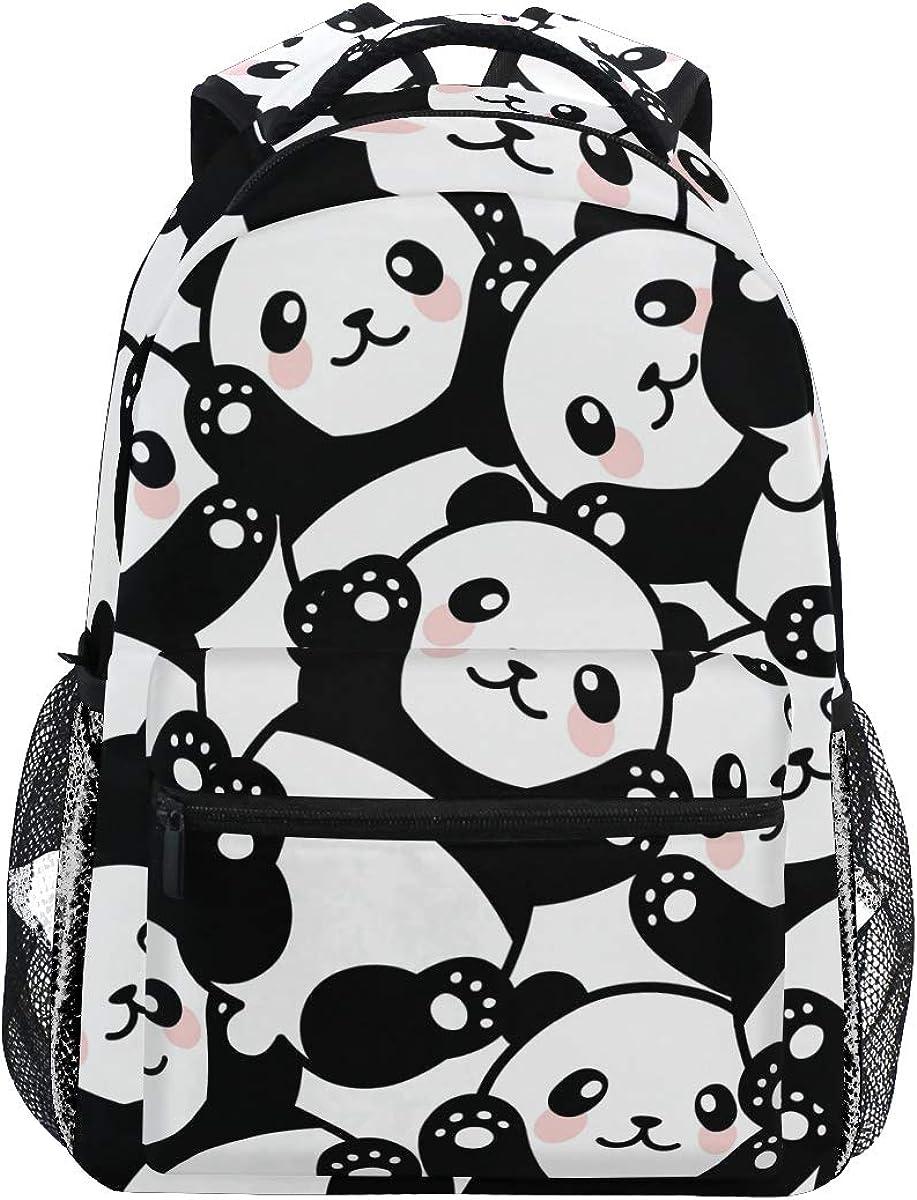 Qilmy Panda Backpack for Kids Girls Boys School Student Bookbag Laptop Backpack Travel Daypack