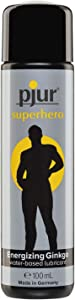 pjur superhero glide - Lubricante estimulante con ginkgo - da potencia y estimula - para todos los hombres que desean más (100ml)