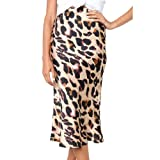 Fashion Womens Sexy England Leopard Printed Split