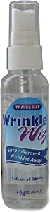 Wrinkle Wiz Wrinkle Release Easy Iron Starch + Static Cling Odor Eliminator for Clothes, TSA Approved-2oz Spray Bottle (2 Pack)