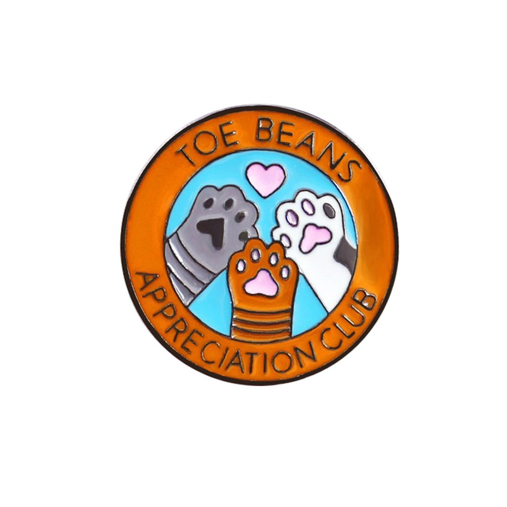 Broche unisex de la marca wonCacrostrans, lindo pin redondo para perro, letras, impreso esmaltado, broche para niños