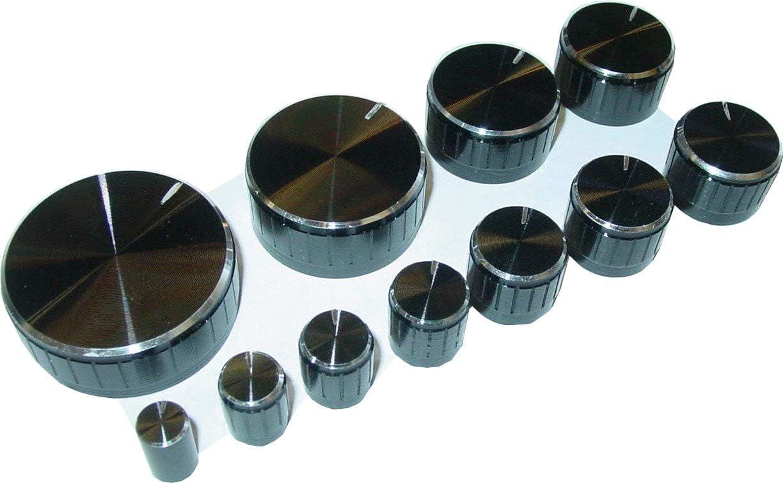 Schwarz Kunststoff Potentiometer Drehknopf Knöpfe Caps für 6mm Dia Welle PD