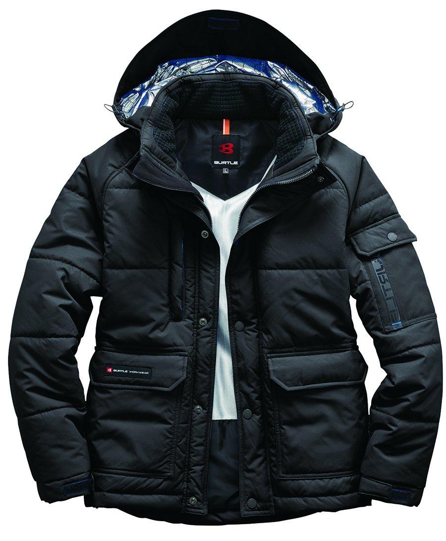 BURTLE バートル 防寒ジャケット(大型フード付)(ユニセックス) 秋冬用 ブラック 3L 7510 35 B074MDSCCK 3L ブラック ブラック 3L