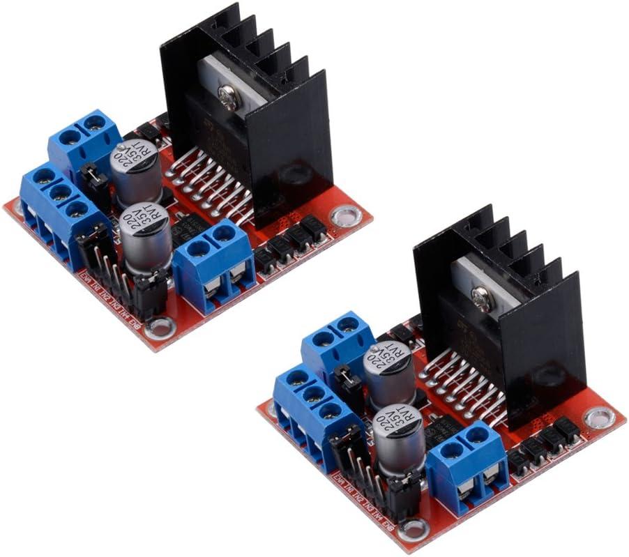 Turobayuusaku Dual H Bridge Stepper Motor Drive Controller Board Module For Arduino L298N