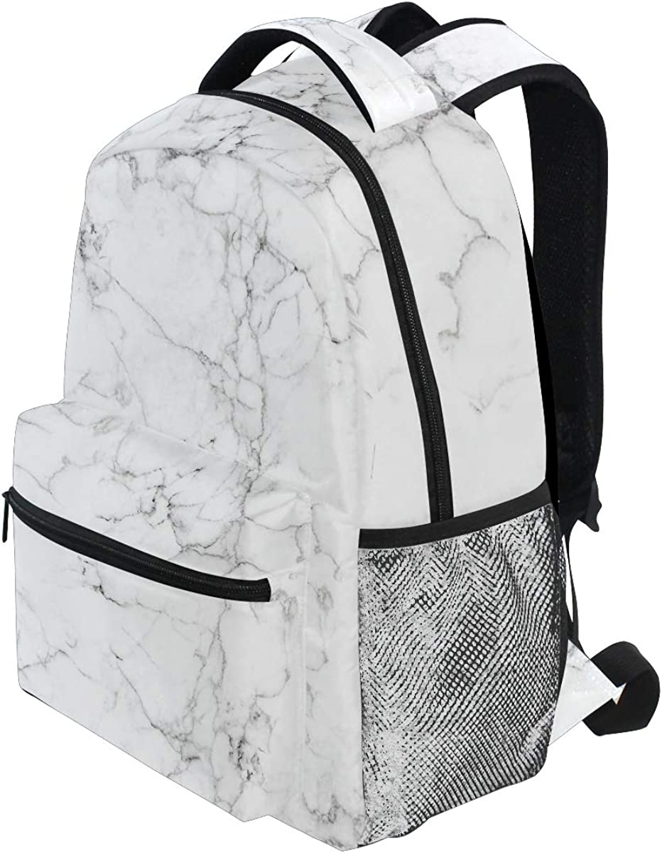 JOKERR Backpack Abstract Marble Large Capacity Casual Printed Shoulder Bag Daypack Travel Laptop Women Adults Boys Girls
